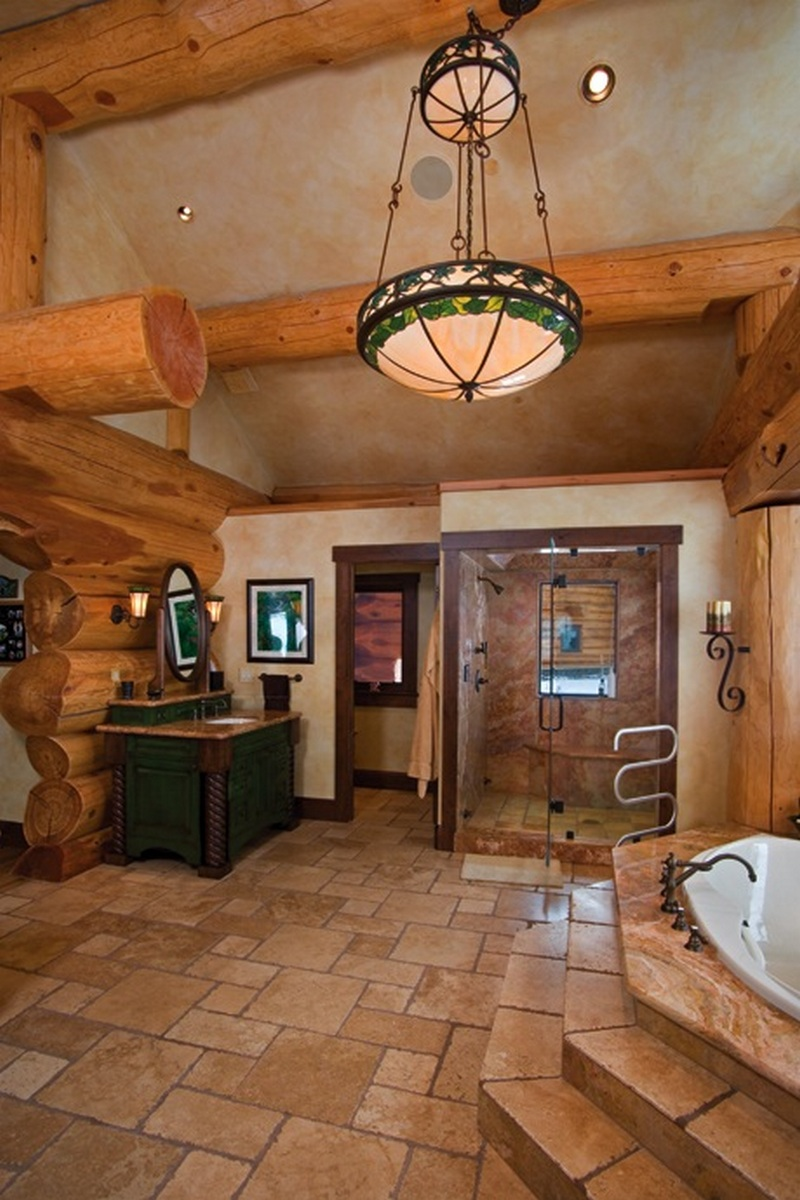 Amazing Log Home Master Bath On The Owner Builder Network