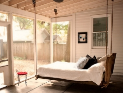 A swinging daybed.  Bliss!