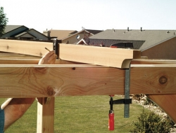DIY Backyard Pergola - Fitting the Top Slats