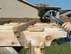 DIY Backyard Pergola -  Finishing nails and construction