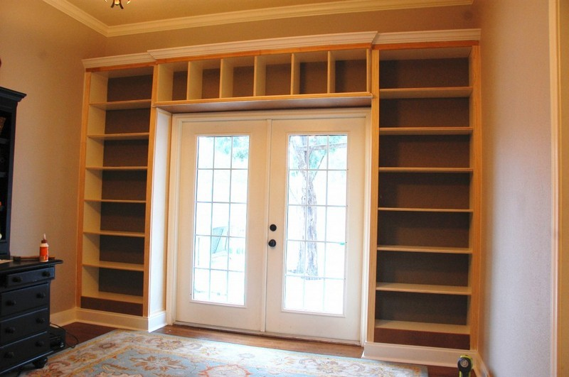 DIY Billy Built in Bookshelves 800 x 531