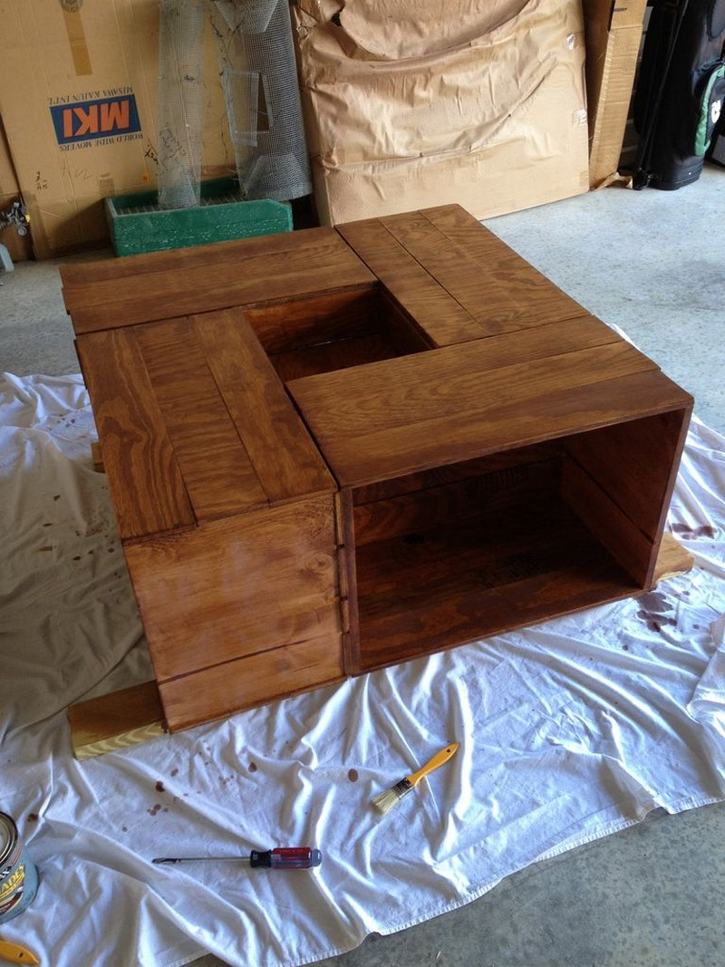 DIY Crate Coffee Table | The Owner-Builder Network