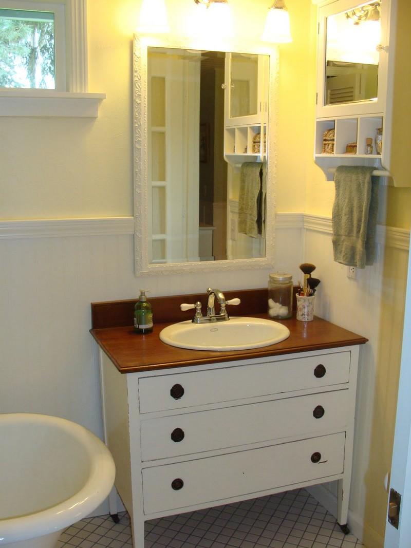 diy dresser to vanity the owner builder network. Black Bedroom Furniture Sets. Home Design Ideas