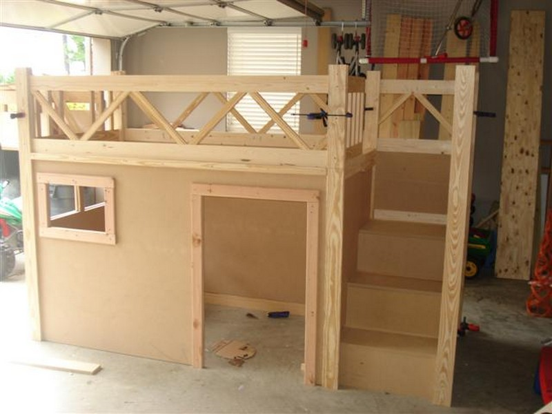 Loft Beds With Stairs Plans Building a loft bed woodworking project ...