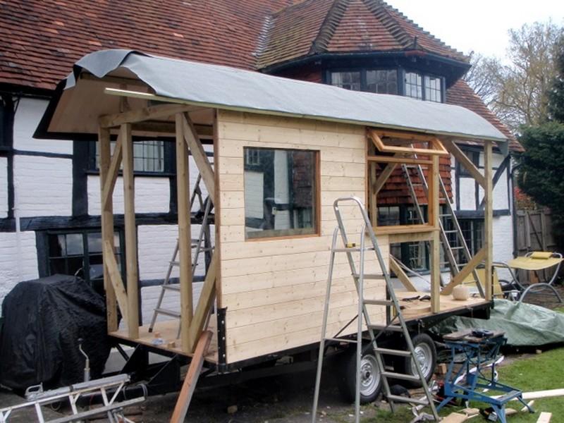 diy house on wheels framing the window. Black Bedroom Furniture Sets. Home Design Ideas