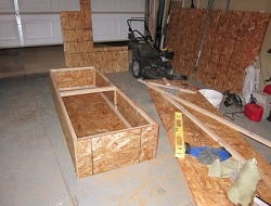 DIY King Size Bed - Center Storage