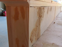 DIY King Size Bed - Foot Board