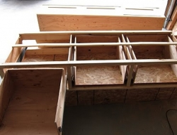 DIY King Size Bed - Drawers