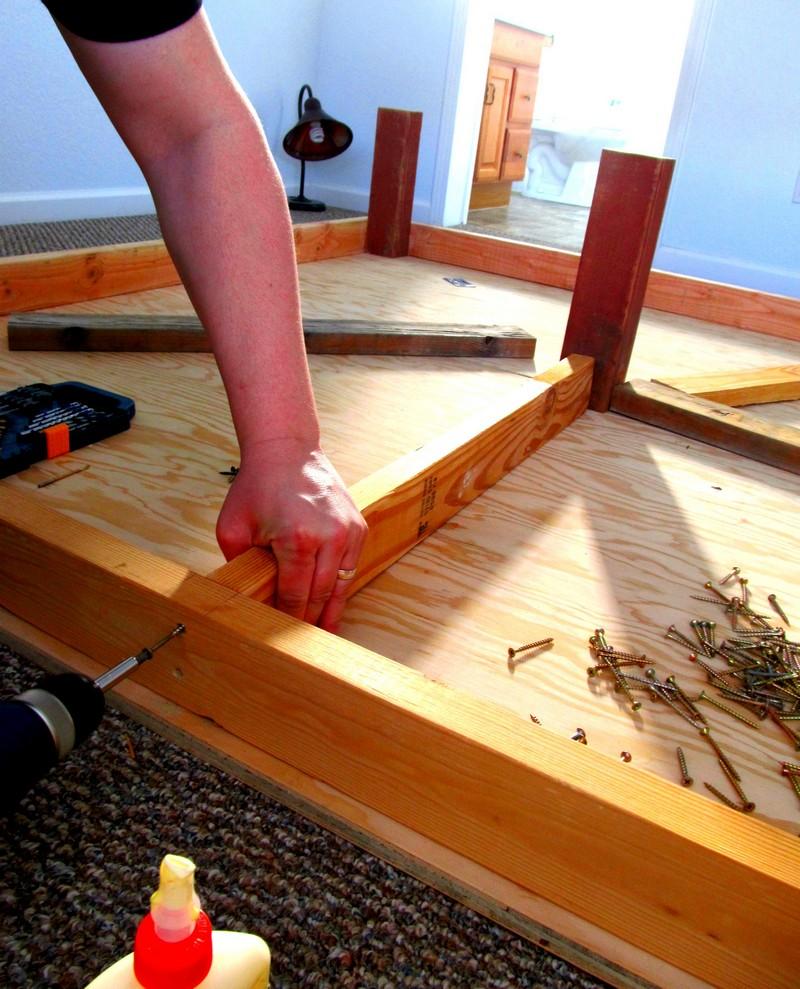 diy king sized bed platform side bed