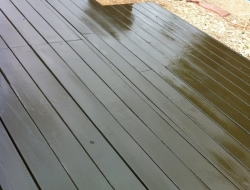 DIY Pallet Deck - Stained