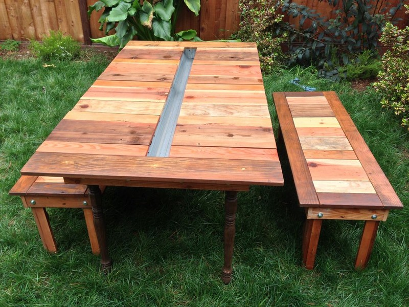 DIY Reclaimed Wood Picnic Table