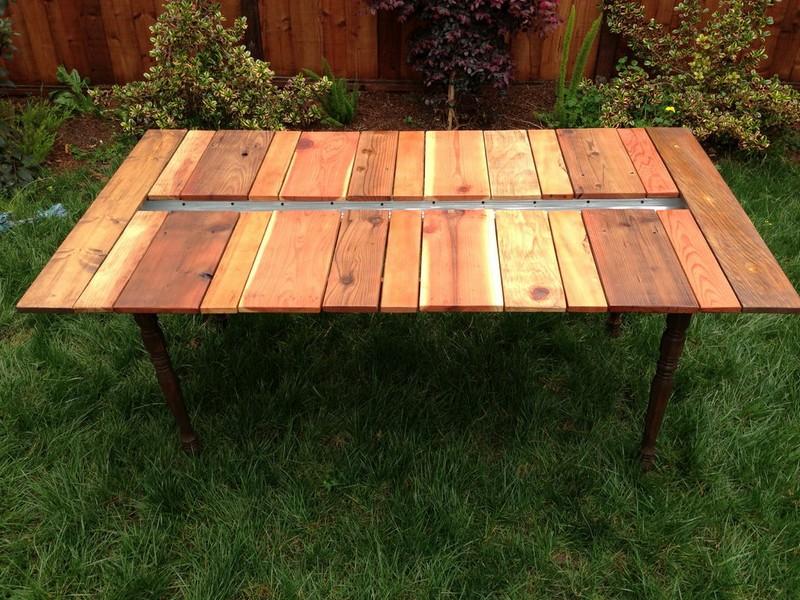 DIY Reclaimed Wood Picnic Table