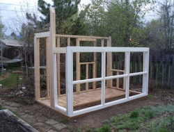 DIY Repurposed Windows Greenhouse - Framing