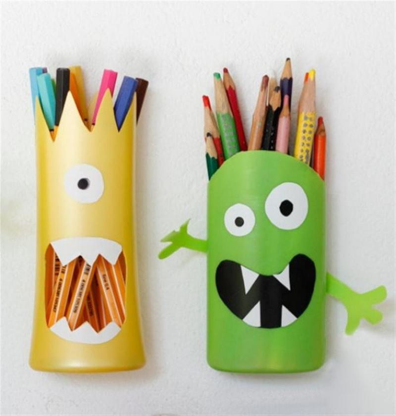 DIY Shampoo Bottle Pencil Holder | The Owner-Builder Network
