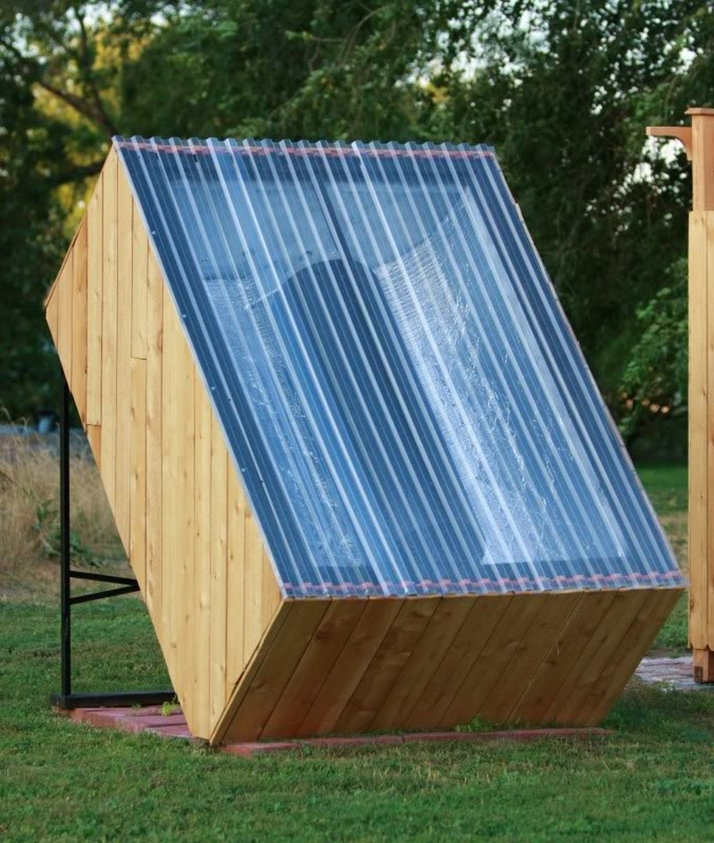 How to build an outdoor solar hot water shower -