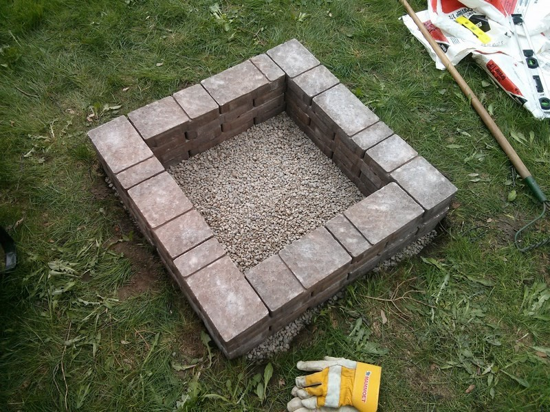 Diy Square Fire Pit Plans House Design And Decorating Ideas