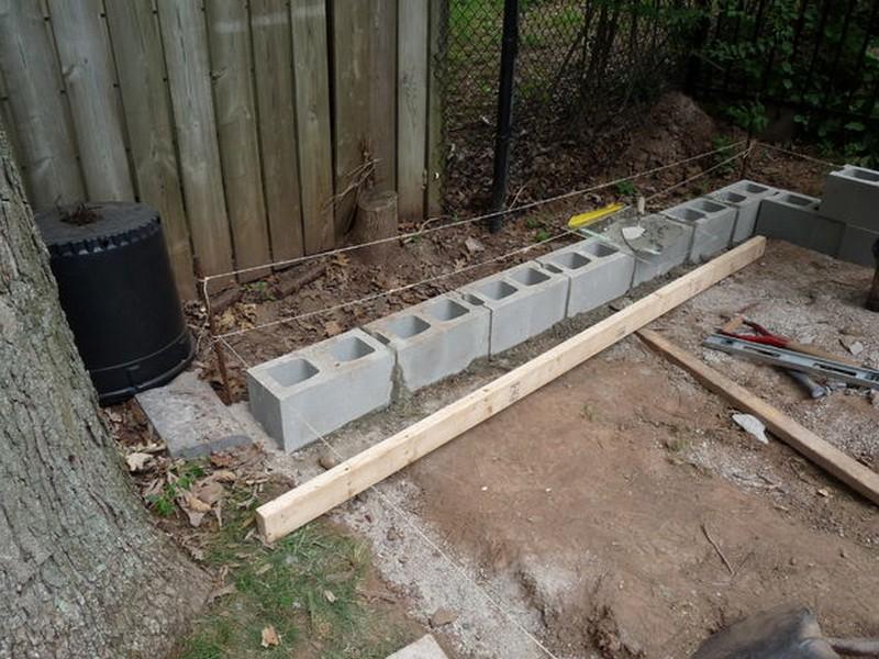 Блоки под сарай