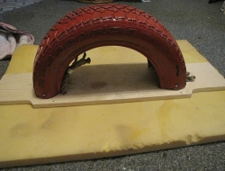 DIY Tire See Saw - Overed with foam