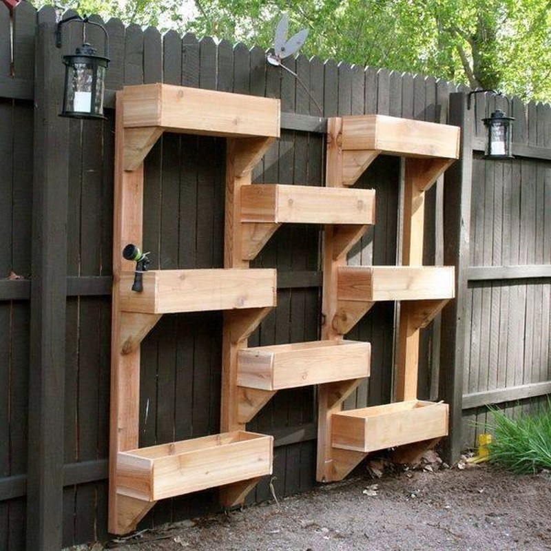 Diy Vertical Planter Garden Pictures Photos And Images: Vertical Wooden Box Planter