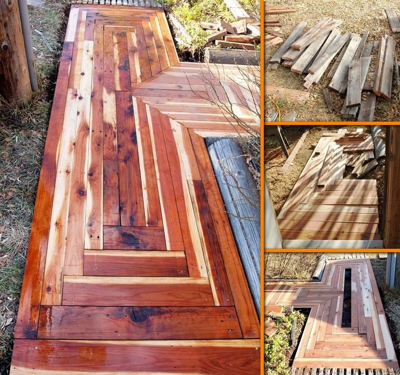 The Owner Builder Network: 13. DIY Reclaimed Lumber Sidewalk