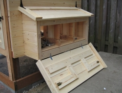 Homemade Chicken Coop - Side open door
