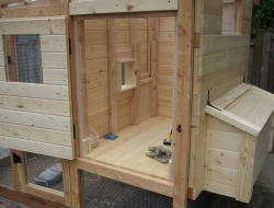 Homemade Chicken Coop - Hen House Door