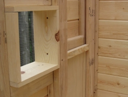 Homemade Chicken Coop - Sliding Panel