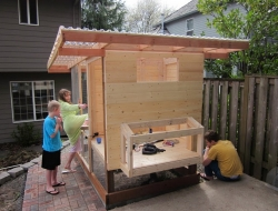 Homemade Chicken Coop - Hen house siding