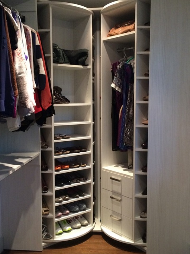 How To Build A Lazy Susan Shoe Storage - Shoe rack