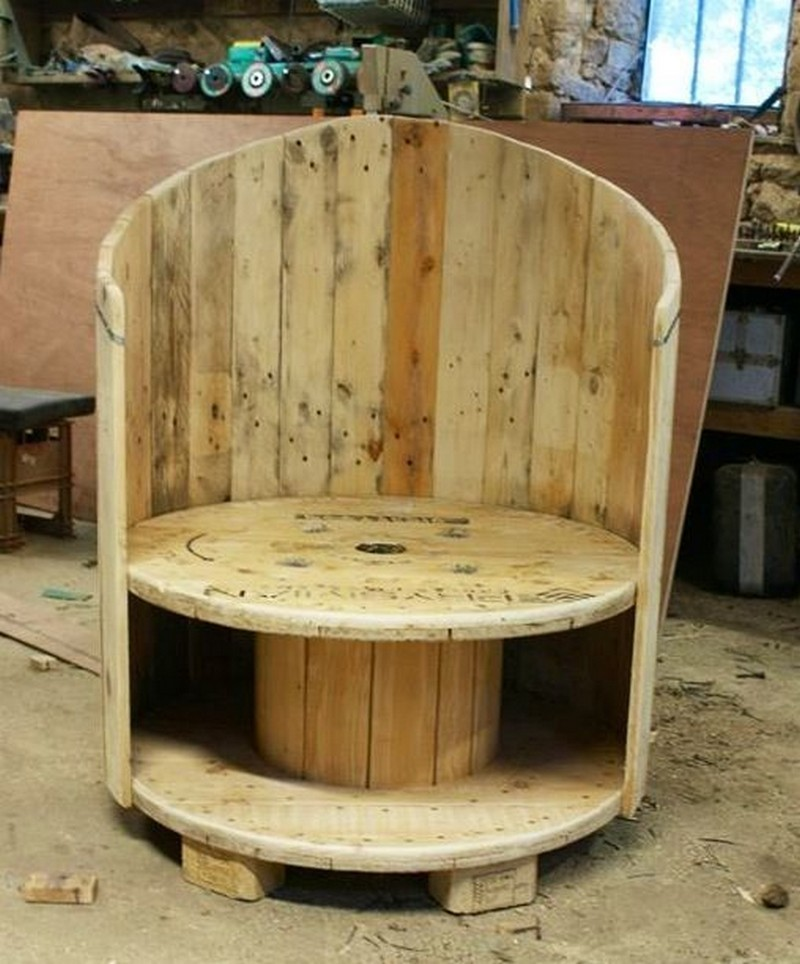 Fire Pit Table And Chairs Costco Repurposed Wire Spool Ideas - Wooden cable spool and pallet wood chair