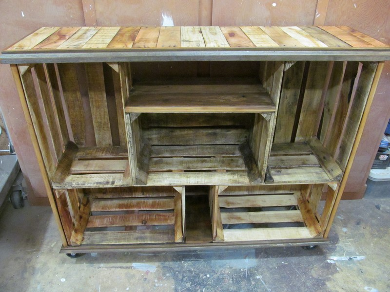 Wooden Crates Furniture : Repurposed Wooden Crate Ideas - Crates furniture