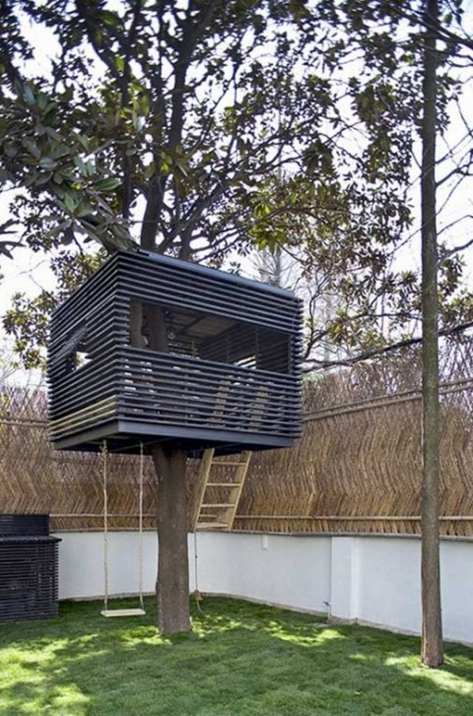 Tree houses for the child within the owner builder network for Modern tree house designs