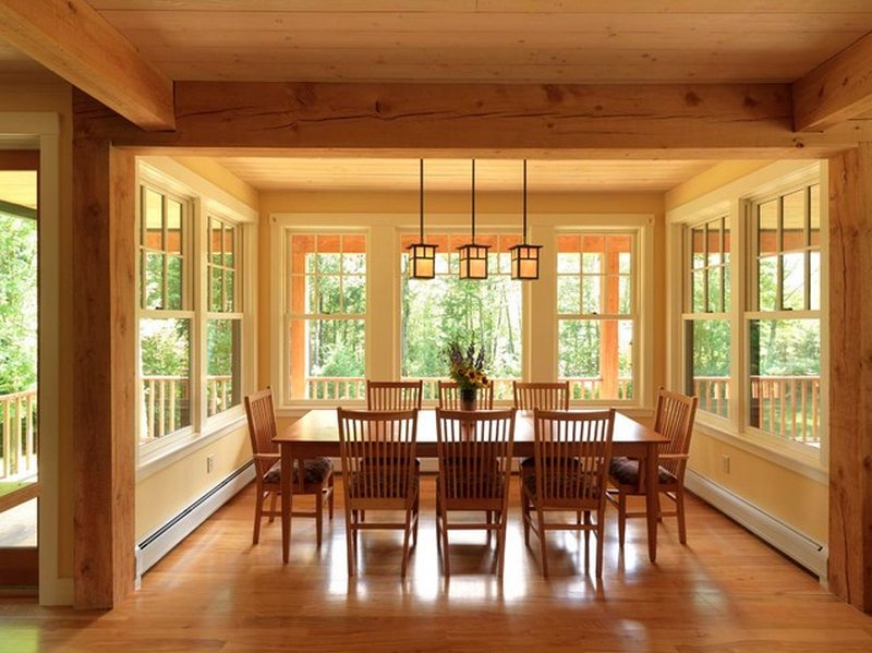 Dining formal casual comfortable the owner builder for Balsam house