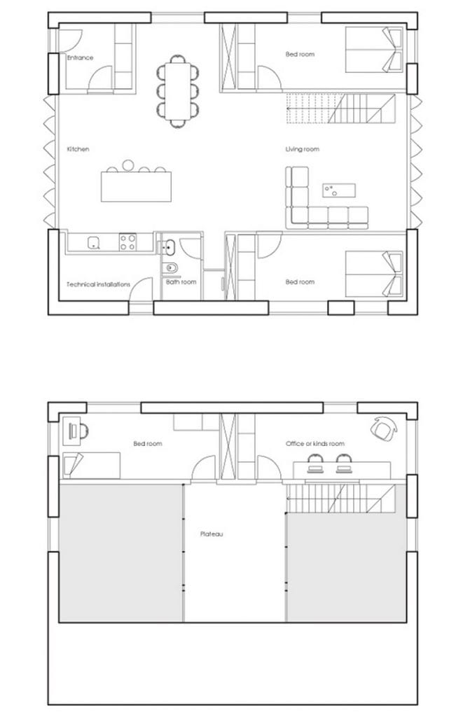 Three containers imagination ample space the owner for Owner builder house plans