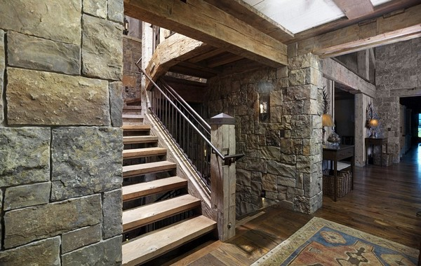 Stone and reclaimed timbers