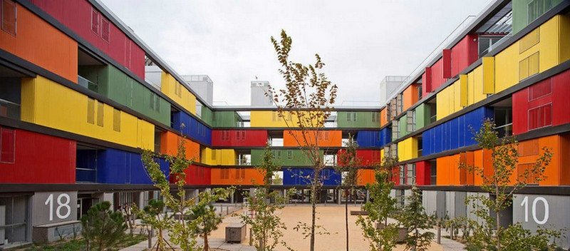 Public housing in Madrid, Spain