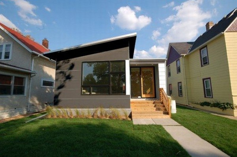 Small contemporary prefab home hive modular the owner for Modern prefab homes mn