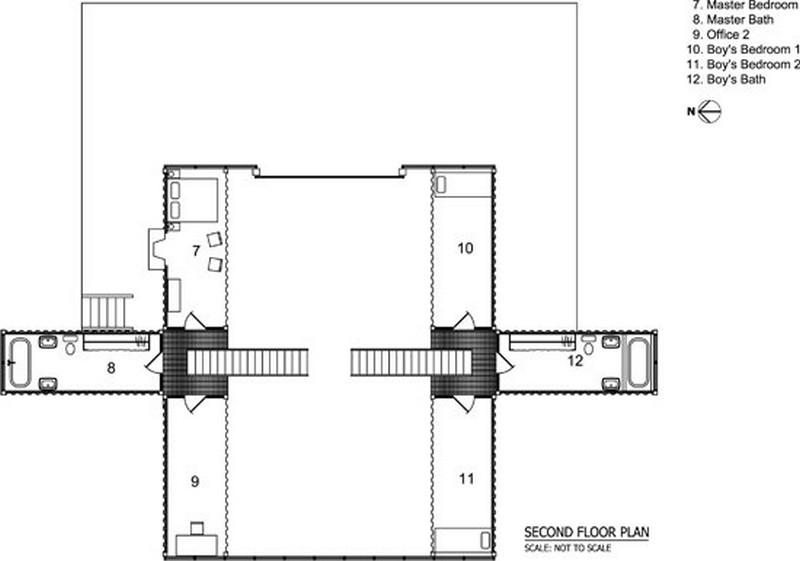 adriance and kalkin house the owner builder network For12 Container House Floor Plan