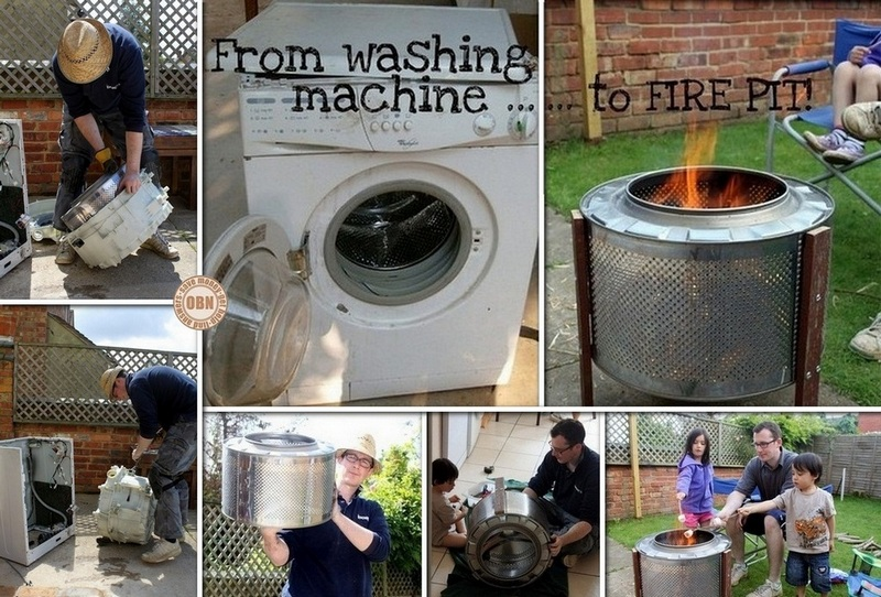 DIY Fire Pit: Up-cycled Washing Machine Drum | The Owner ...