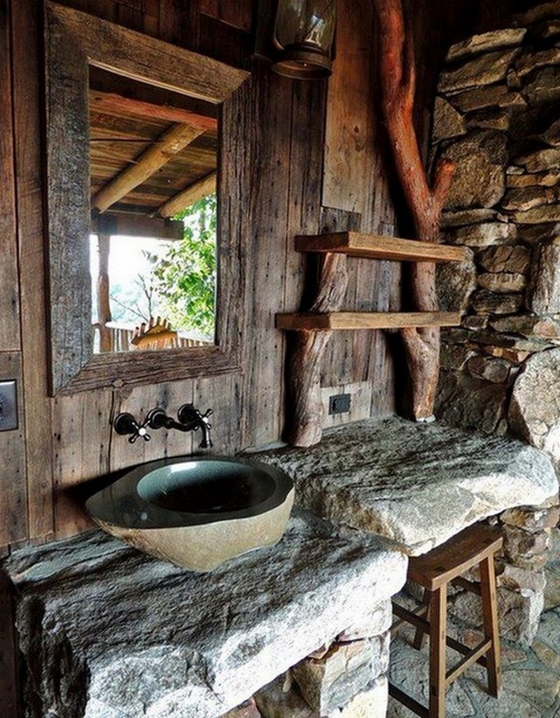Outdoor Stone Sink : Rustic Bathrooms The Owner-Builder Network