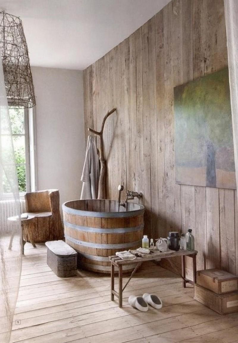 Rustic bathrooms the owner builder network - Bathroom ideas for small bathroom ...
