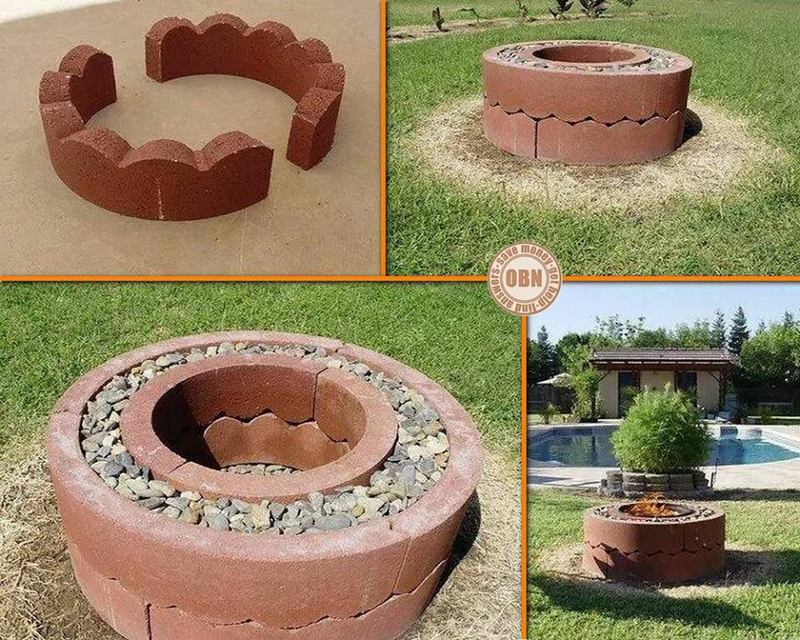 DIY Fire Pit: Using Concrete Tree Rings