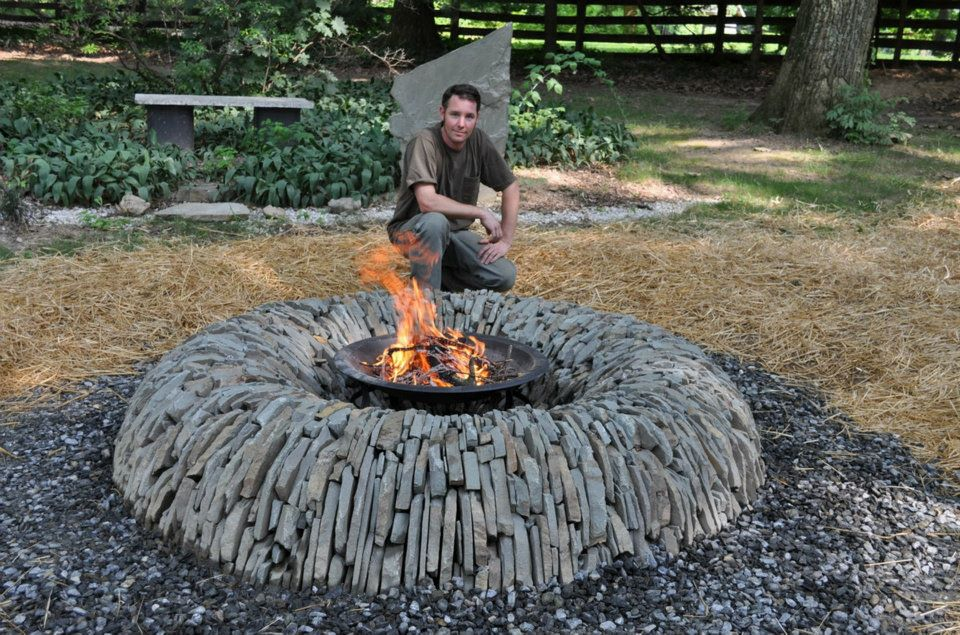 Still looking for that perfect fire pit? How about this split stone ...