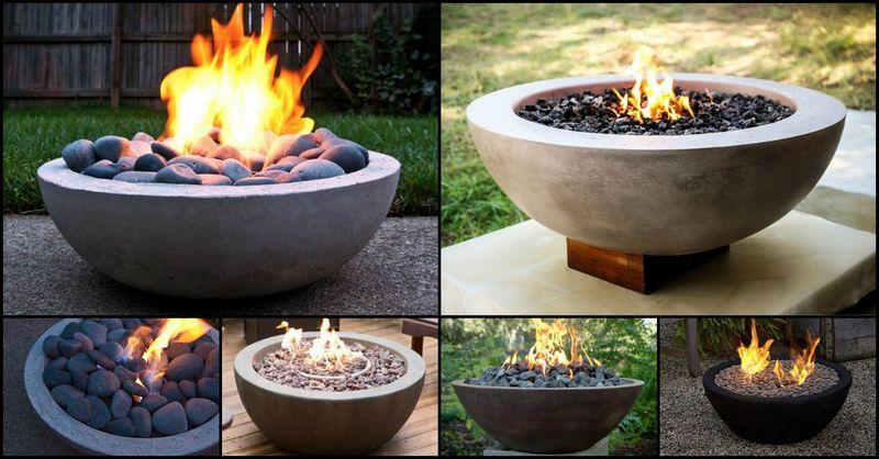 Concrete Bowl Fire Pit