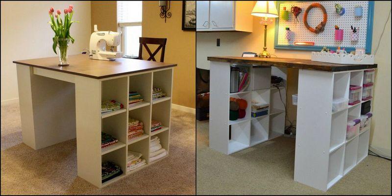 Bookshelf Craft Table