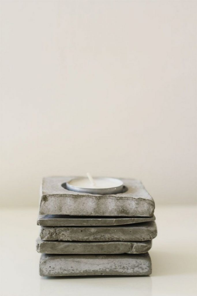 Diy Concrete Candle Holders The Owner Builder Network