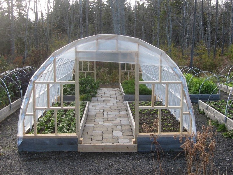 Diy greenhouse the owner builder network for Diy hoop greenhouse