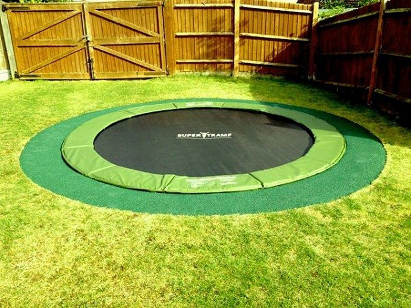Diy inground trampoline the owner builder network for How to put a trampoline in the ground