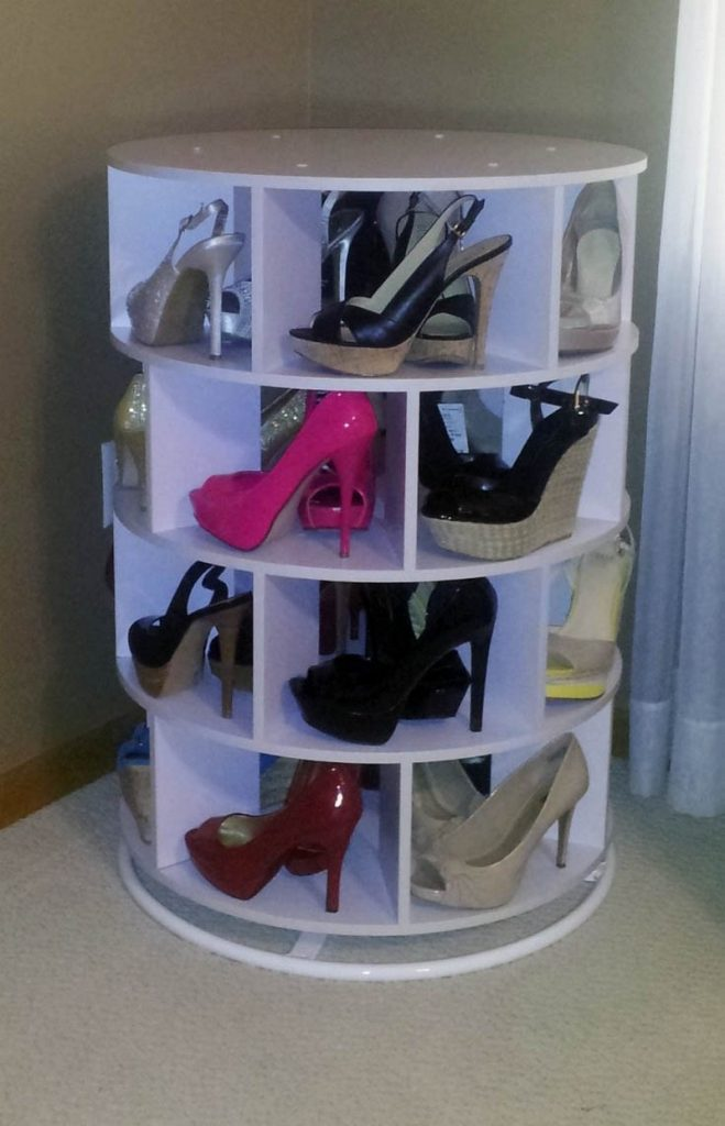 Diy Lazy Susan Shoe Storage The Owner Builder Network