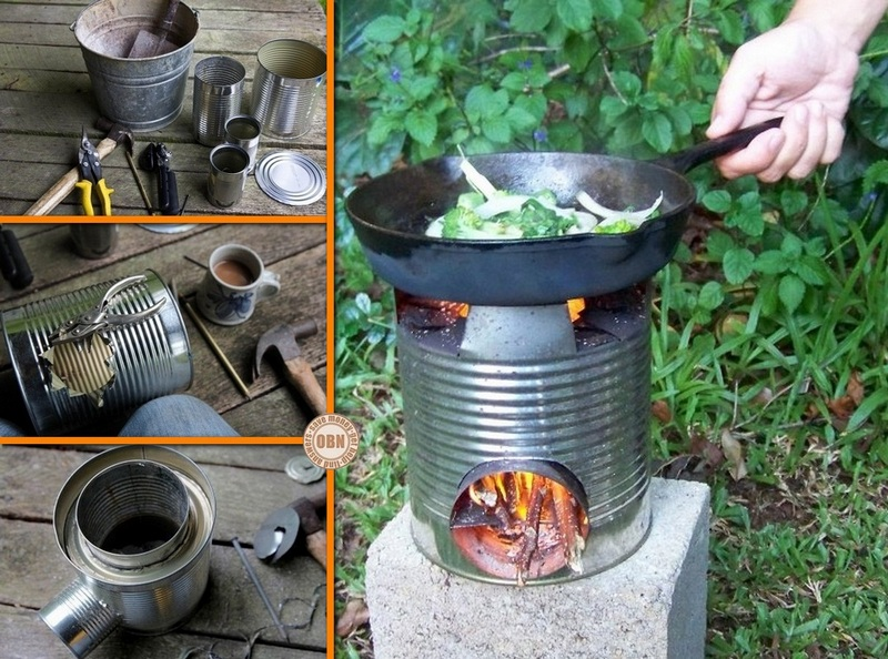 Diy portable tin can rocket stove the owner builder network for Build your own rocket stove